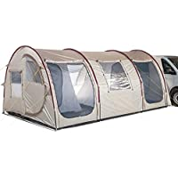 Skandika Esbjerg Travel Free-Standing Awning with Sewn-In Groundsheet and 2 Sleeping Cabins, Sand/Red, 4 Persons 24