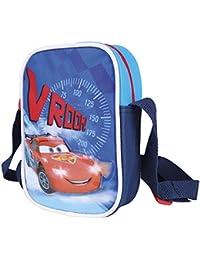 Perletti Umhängetasche für Jungen Disney Cars - Kleine Umhänge für Kinder mit Motiven aus Lightning McQueen - Rote und Blaue Tasche für Reisen und Freizeit 18x13x4 cm