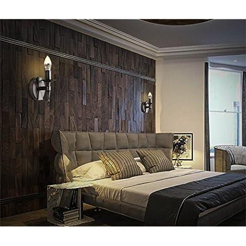 stile country americano retrò scale industriali lampada da parete camera da letto della lampada corridoio singolo testa nera in ferro battuto a parete candela sconce (1 luce)
