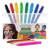 Blue Squid. Face Paint Kreiden für Kinder | 12 Farbe kein Durcheinander, drehbarer Sticks | Beste Qualität Body Painting Set