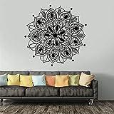 Mandala Art Master Adesivi murali stile creativo Mandala Yoga Decorazione Motivo indiano Camera da letto Decorazioni per la casa Adesivo da parete Casa e giardino ALTRO COLORE 57x57 CM