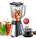 Stainless Steel Blender with coffee mill attachment glass steel Smoothie Maker Ice Crusher Universal Mixer incl. Crusher 700 Watt