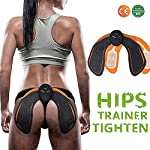 ABS Stimulator Buttock Toner EMS Electrical Hips Trainer Abs Trainer 6 Modes Smart Fitness Training Gear Home Office Ab...