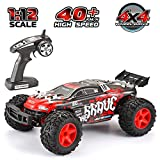 VATOS RC Auto 1/12 Fernbedienung 4WD 2.4Ghz 50M Radio Control Auto 40km/h Monster Truck Rock Racing Crawler High Speed Off Road RC Buggy Wüste Elektrofahrzeug Spielzeug Hobby Geschenk mit LED Licht