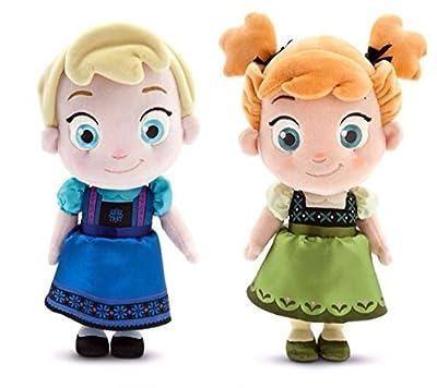 Disney Frozen Elsa & Ana Plush Dolls de Disney Store