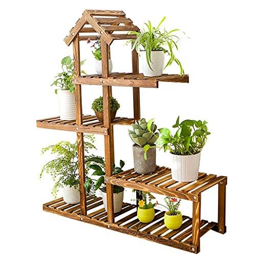 Wydm fioriera porta fiori verticale in legno portaoggetti da giardino balcone interno o esterno, soggiorno 88x25x98cm