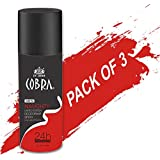 Deodrant For Men Cobra NAUGHTY Limited Edition Spray 150ml Pack Of 3