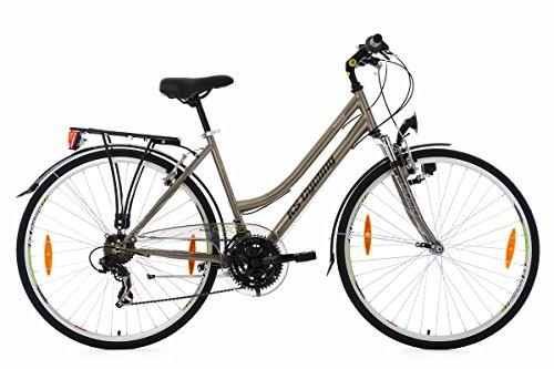 KS Cycling Damen Trekkingrad Nevada RH 48 cm Flachlenker Fahrrad, Bronze, 28