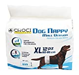 CROCI Dog Nappy Bande pour Chien Male 12 Pièces 60-85 cm Taille XL