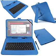 "DURAGADGET Funda / Teclado ESPAÑOL Azul 10.1 "" Para la tablet BQ Aquaris M10 Ubuntu Edition 10.1"" | HD | Full HD - Conexión MicroUSB + Lápiz Stylus"