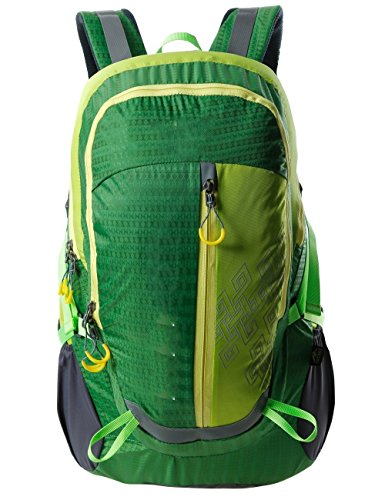 La nuova cinghia cuscino d'aria unisex escursionismo zaino da campeggio giro zaino 40L di guida ( colore : Nero ) Verde