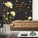 ufengke - Pegatina de pared, flor de peonía, con marco de fotos, para dormitorio, adhesivo de quita...