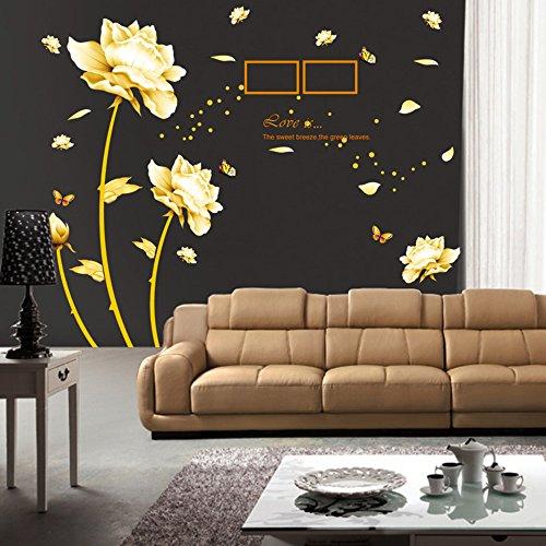Adesivi murali fiori e farfalle | Grandi Sconti | Adesivi murali ...