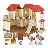 SYLVANIAN FAMILIES - Casa de muñecas con 2 Caracteres, mobiliario e iluminación (5171)
