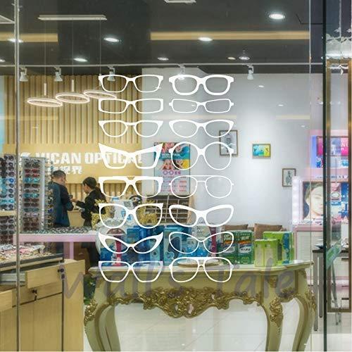 Cyalla Brillen Specs Rahmen Vinyl Wandaufkleber Brillen Rahmen Kunst Decals Optische Shop Optiker Büro Fenster Tür Dekor 86 * 56 Cm