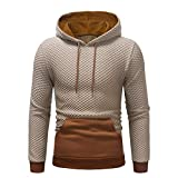 Holeider Hoodie Herren, Basic Kapuzenpullover Pullover mit Tasche Patchwork Langarm Herbst Winter Männer Sweatshirt Sweatjacke Outwear Freizeit Slim Fit Bluse Tops Trainingsanzüge