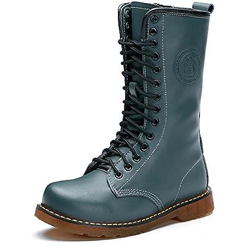 Invierno cuero botas alta Martin/Botas de invierno británico/Señora14Agujero tendón botas