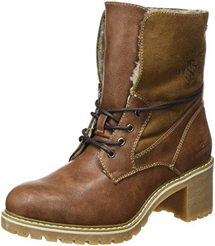 TOM TAILOR Damen 3790901 Desert Boots, Braun (Cognac), 38 EU