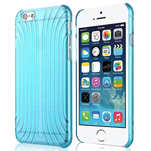 Baseus Premium Transparentes Hard-Shell Case / Ultra-Dünn / Slim / Schutzhülle für Apple iPhone 6 & 6S in Transparent Blau Premium Hardshell Case