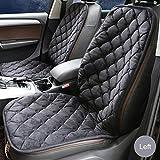 cuscino del sedile dell' auto cuscino riscaldatore riscaldatore Universale multifunzione DC 12V copertura del sedile dell' auto riscaldato cuscino del sedile riscaldatore in fibra di carbonio riscaldatore cuscino del Asiento izquierdo del conductor nero