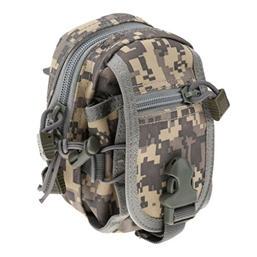Sharplace Waist Pack Molle Tattico Sacchetto Militare Marsupio Porta Cellulare Penna Chiave Accesorio Sportivo - Verde Militare ACU Camouflage