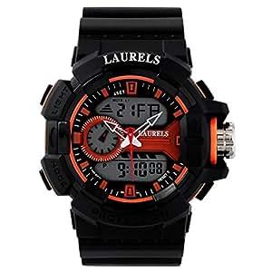 Laurels Digi Analog-Digital Black Dial Men's Watch - Lo-Digi-109