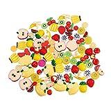 PandaHall Elite 90 Pcs Cabujones de Resina, Cuentas de Fruta, Manzana, Kiwi, Sandía, Naranja, Plátano, Pitaya, Limón, Cereza, Fresa, Piña, Color Mezclado, 8x7.2cm