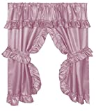 Best Carnation Home Fashions Home Fashion Wides - Carnation Home Fashions Lauren Curtain with Ruffled Valance Review