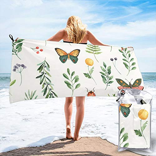 Butterfly Garden Seat (Fun Life Art Fast Quick Dry Towel,Sports & Beach Towel.Butterfly Garden Bianca Suitable for Camping, Gym, Yoga,Swimming,Travel,Hiking,Backpacking.)