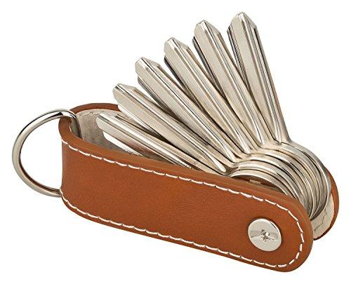 Der Key-Organizer von KliSa aus echtem Leder - Das Accessoire für den Mann! (Braun) Transponder Ring