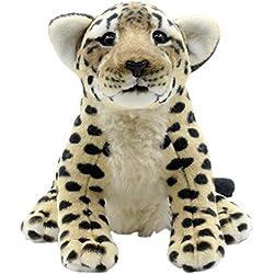 TAGLN Juguetes de Peluche Tigre Leopardo Guepardo León Los Animales Postura sentada 25 CM (Guepardo marrón)