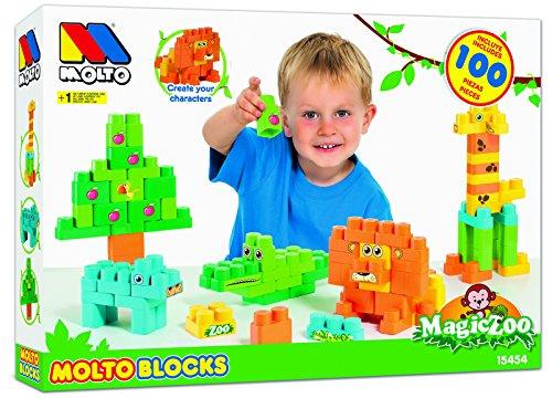 Molto - Blocks Magic Zoo, 100 piezas (15454)