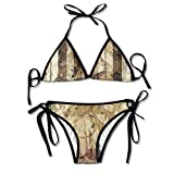 Vintage Piano Bikini Women's Summer Swimwear Triangle Top Bikinis Swimsuit Sexy 2-Piece Set