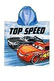 Asciugamano poncho mare bagno piscina sauna Cars 55x110 100% poliestere. doppia stampa saetta McQueen e Ramirez