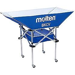 Molten BKCVHB blue x - Carro portabalón de voleibol, color azul, talla 128 x 62 x 25