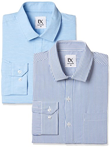 Excalibur by Unlimited Men's Solid Regular Fit Formal Shirt (Pack of 2) (275367418 ASSORTED 42)