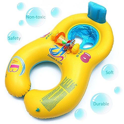 Preisvergleich Produktbild Mutter Baby Schwimmen float-float Ringe aufblasbar Baby Hilfe Sicherheit Pool Boot Toys Raft Play mit Sitz Dual Schwimmen Ringe für Alter 6bis 36Monaten (gelb)