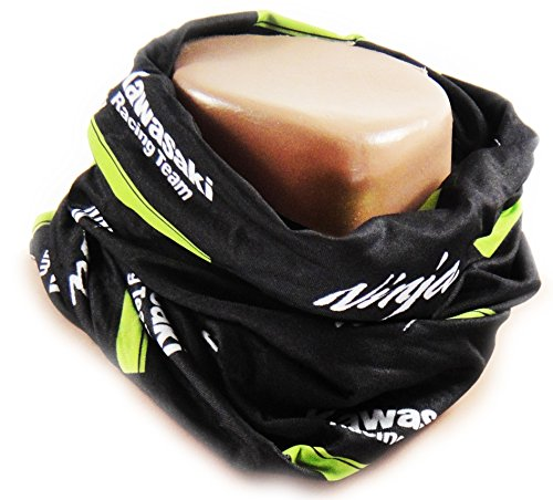 Kawasaki SBK Neck Tube tubo sciarpa foulard Buff Superbike WM Ninja. Nero Verde di bikerworld