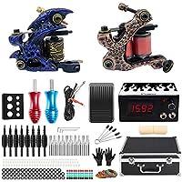 Solong Tattoo equipos de Tatuaje Completo 2 Maquina de Tatuaje Fuente de Alimentacion Pedal Grips Consejos TK221S