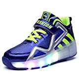 Luckly Grace Unisex Led Scarpe con Rotelle Automatiche High-top Skate