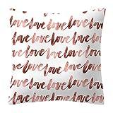 Longsw Funda de cojín cuadrada de 45 x 45 cm, poliéster, terciopelo melocotón, purpurina, oro rosa, geométrico, estampado floral, funda de cojín decorativa, sofá nórdico 20