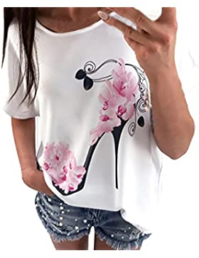 ba zha hei-Mujer Ropa Camisas Mujer, ❤️Ba Zha Hei Sudadera de manga corta para mujer de moda Blusa Casual Tops...