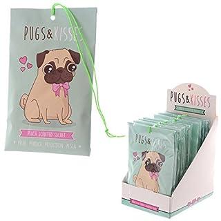 Small Peach Scented Sachet 10g Pugs & Kisses Range Pug Dog Home Fragrance by Profumatori Armadio