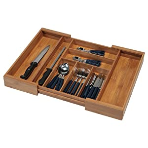 Kesper 17085 Variabler Besteckkasten Bambus ausziehbar von 35 - 58 cm