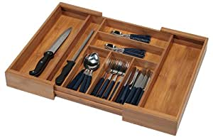 kesper 17085 cutlery tray expandable from 35 58 cm bamboo. Black Bedroom Furniture Sets. Home Design Ideas