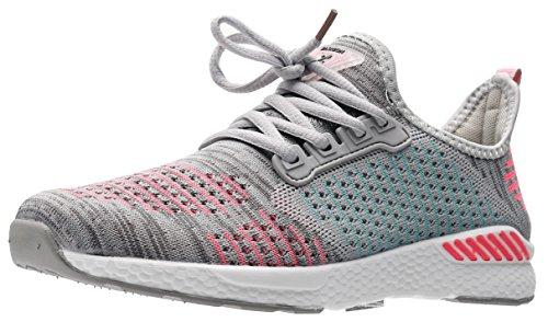 JOOMRA Damen Flexible Leichte Laufsohle Schuhe Trail-Einsteiger-Schuh angenehmen Komfort Mädchen und Jungen Sneaker Grau, Blau, Rosa, Weiß 41 EU (42 Asien)