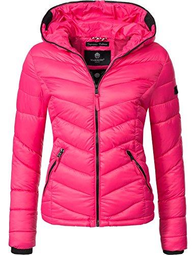 Marikoo Damen Jacke Übergangsjacke Steppjacke Kuala (Vegan Hergestellt) Pink Gr. M