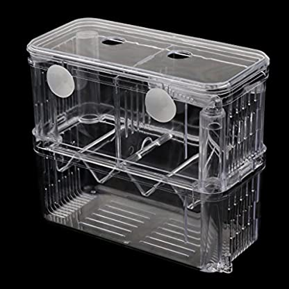Sharplace Floating Fish Aquarium Hatchery Breeding and Parenting Box with Live Fry Trap 3