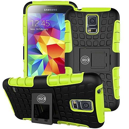 Galaxy S5Case, [Heavy Duty] Galaxy S5Armor B [Eternity Series] Robust [Gummi] Rugged stoßfest Dual Layer Hybrid Hard/Soft Slim Schutzhülle (für die Galaxy S5) von Kabel und Fall (Mickey Mouse Tail)