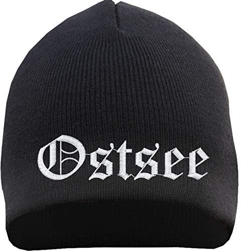 HB_Druck Ostsee Beanie - Bestickt - Mütze Einheitsgröße Schwarz